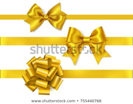 dorado · arco · cinta · elemento · decoración · regalos - foto stock © olehsvetiukha