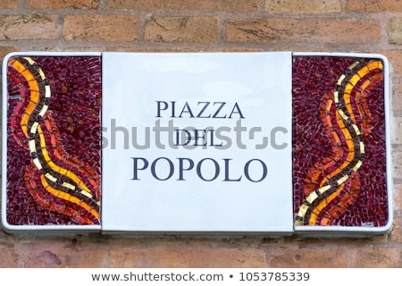 Decorativo segnale stradale Italia costruzione casa città Foto d'archivio © boggy