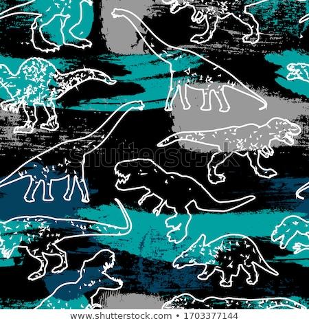 Dinoszaurusz végtelen minta illusztráció háttér művészet vicces Stock fotó © colematt