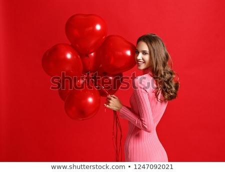 Piękna czerwony biały serca streszczenie serca Zdjęcia stock © SArts