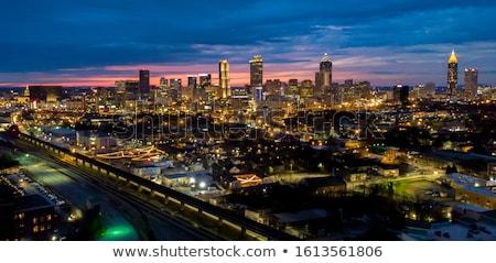 Atlanta · éjszaka · sziluett · Grúzia · város · fények - stock fotó © iofoto