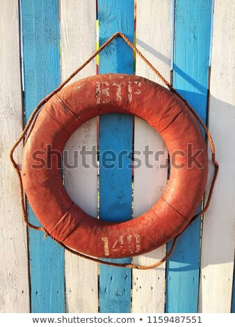 Lifebuoy on White Background Stock photo © make