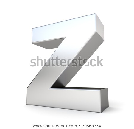 Stock foto: Chrome Font With Colorful Reflections Letter Z 3d