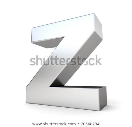 хром шрифт красочный Размышления письмо z 3D Сток-фото © djmilic