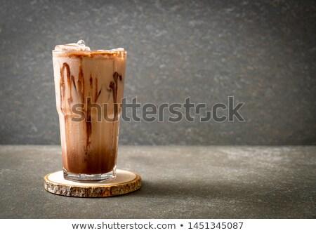 ドリンク · ホイップクリーム · 冷たい · チョコレート - ストックフォト © barbaraneveu