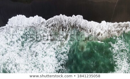 Aerial photography from the drone sea blue surface. Natural summer background Stock photo © artjazz