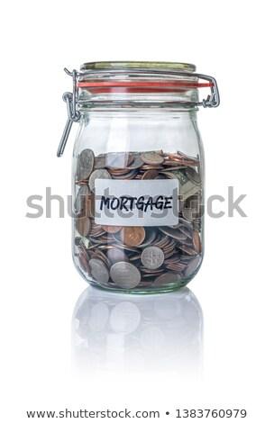Izolált bögre érmék jelzálog ház pénzügy Stock fotó © Zerbor