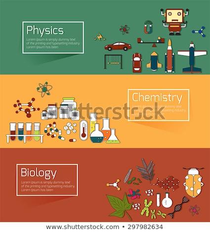 Chemicznych laboratorium ilustracja naukowy wyposażenie medycznych Zdjęcia stock © biv