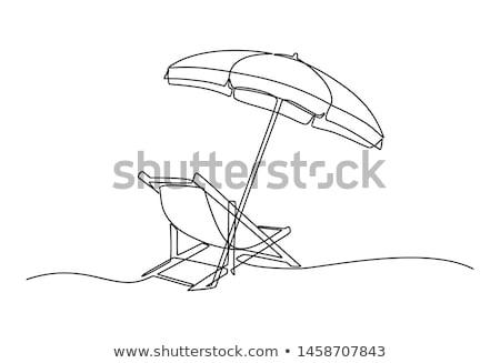 Zee vakantie lijn schets sjabloon kaart Stockfoto © Anna_leni