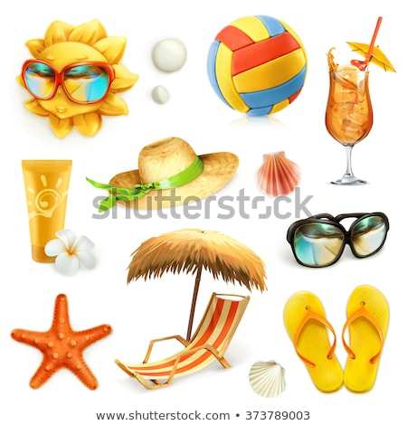 set of beach element stock photo © bluering