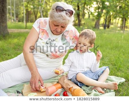 Babcia wnuk weekend parku kobieta rodziny Zdjęcia stock © Lopolo