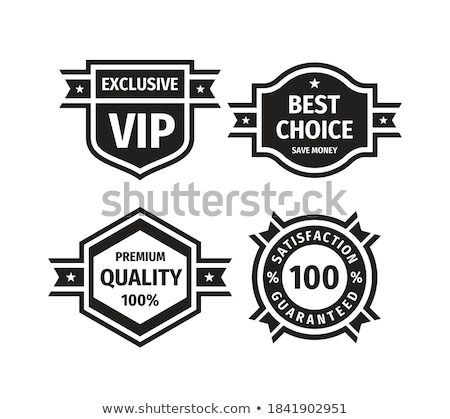 Promotional Sale Discount Ribbon Monochrome Vector Stock photo © pikepicture