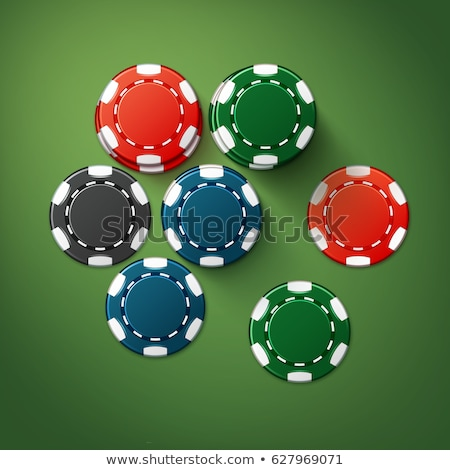 черный · фишки · для · покера · вектора · реалистичный · набор · пластиковых - Сток-фото © marysan