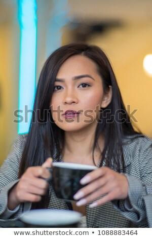 Koffiekopje ontspannen tijd Blur mensen coffeeshop Stockfoto © Freedomz