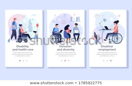 инвалидов занятость человек инвалидность служба месте Сток-фото © RAStudio