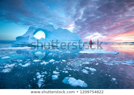 Iceberg from glacier in arctic nature landscape on Greenland - aerial photo Stock photo © Maridav