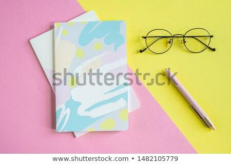 пер · очки · ноутбук · складе · фото · бумаги - Сток-фото © pressmaster