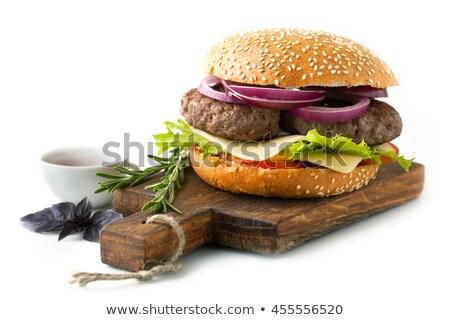 Hambúrguer comida carne sanduíche Foto stock © Alex9500