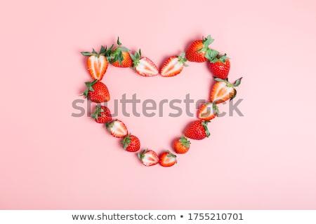 vers · aardbeien · boord · oude · voedsel - stockfoto © dolgachov