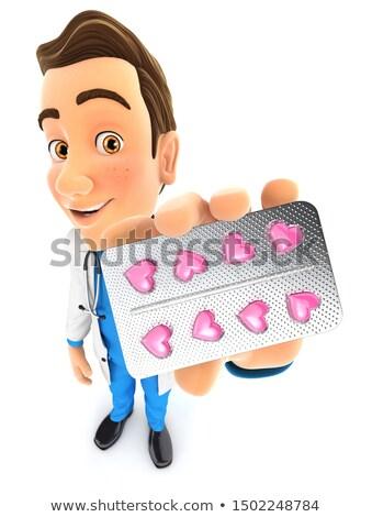 doktor · tablet · eczane · yalıtılmış · beyaz - stok fotoğraf © 3dmask