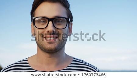 Portré férfi kettő szemüveg néz egyenes Stock fotó © lichtmeister