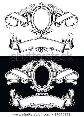 vlaggen · helm · schild · bloem · kunst · teken - stockfoto © ensiferrum