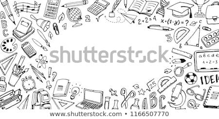 főiskola · vonal · ikonok · fehér · stock · vektor - stock fotó © get4net