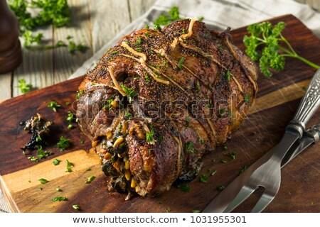 stuffed lamb stock photo © hofmeester
