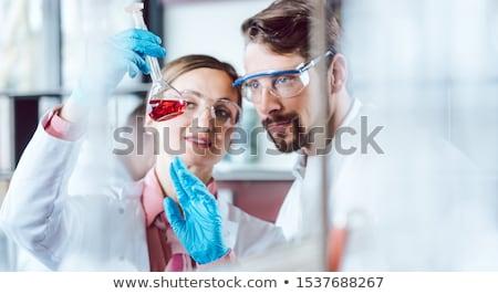 Dwa chemicznych naukowcy przełom eksperyment szczęśliwy Zdjęcia stock © Kzenon