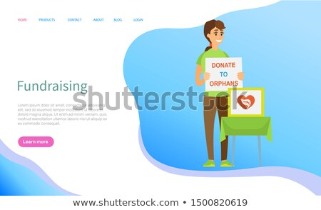 Donate to Orphans Online, Volunteering Vector Stock photo © robuart