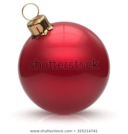 Kırmızı Noel top 3D örnek Stok fotoğraf © djmilic