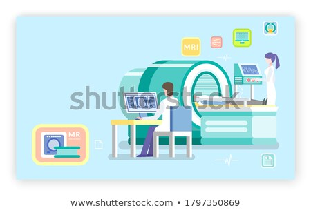 Machine MRI Magnetic Resonance Imaging and Doc Stock photo © robuart