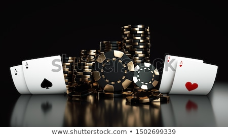 Casino chips on a poker or blackjack table Stock photo © cienpies