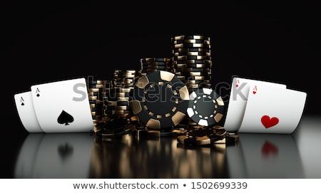Fichas de casino póquer veintiuna mesa otro juego Foto stock © cienpies