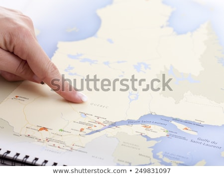 hand who pointing Quebec on a MAP Stock photo © Lopolo