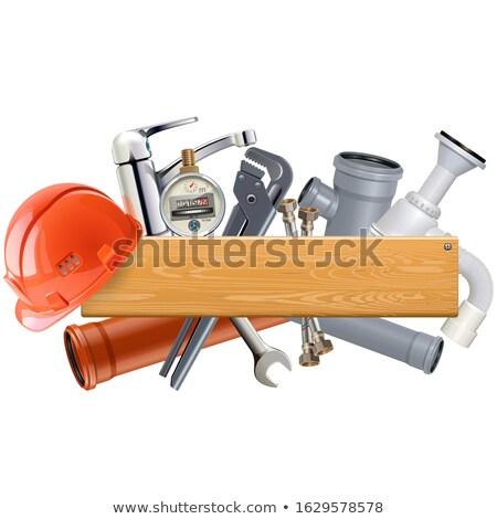 Vetor conselho sanitário engenharia isolado Foto stock © dashadima