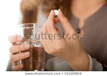 Mulher sentimento doente indisposto Foto stock © Kzenon