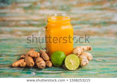 Drink Jamu. Indonesian traditional drink in bali Stock photo © galitskaya