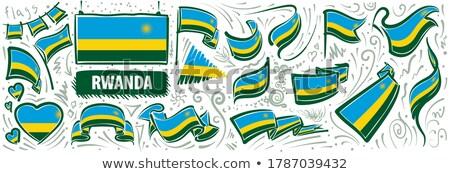 Vector set of the national flag of Rwanda in various creative designs Stock photo © butenkow
