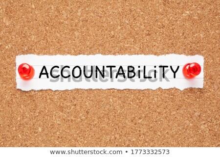 Kelime sorumluluk mantar tahta Stok fotoğraf © ivelin