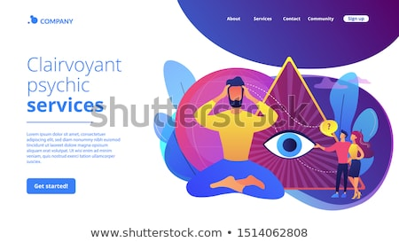 Clairvoyance ability concept landing page Stock photo © RAStudio