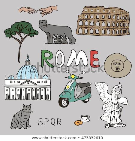 romul and remus in rome italy stock photo © vladacanon