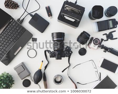 Dslr fotocamera bianco specchio ombra velocità Foto d'archivio © tobkatrina