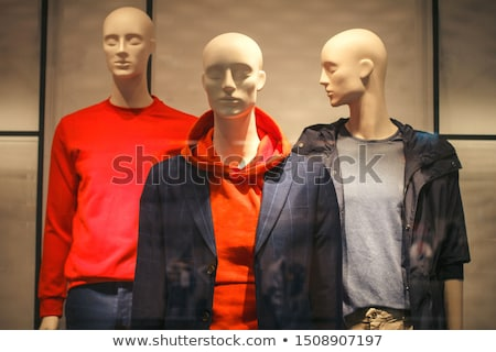 three mannequins in store Stock photo © Paha_L