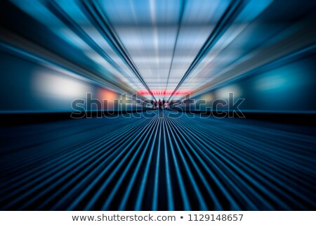 синий эскалатор коридор женщину дороги ног Сток-фото © Paha_L