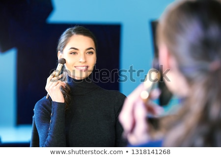 Portrait of young beauty woman in photostudio Stock photo © Paha_L