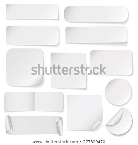 branco · adesivos · cinza · compras - foto stock © orson