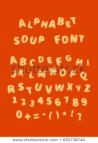 手紙 · スープ · 実例 · 食品 · デザイン · 背景 - ストックフォト © glorcza