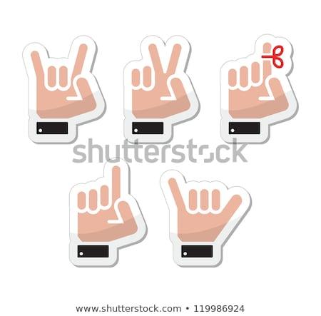 Mão indicação dedo reflexão comunicação preto Foto stock © experimental