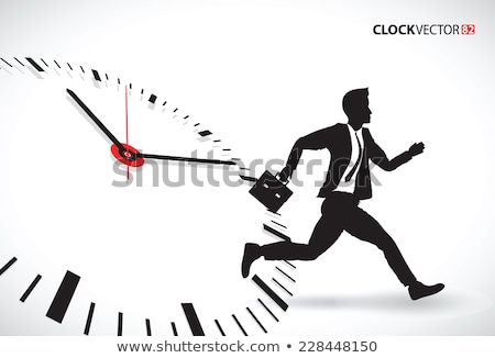 Homme d'affaires courir battement temps Photo stock © 4designersart